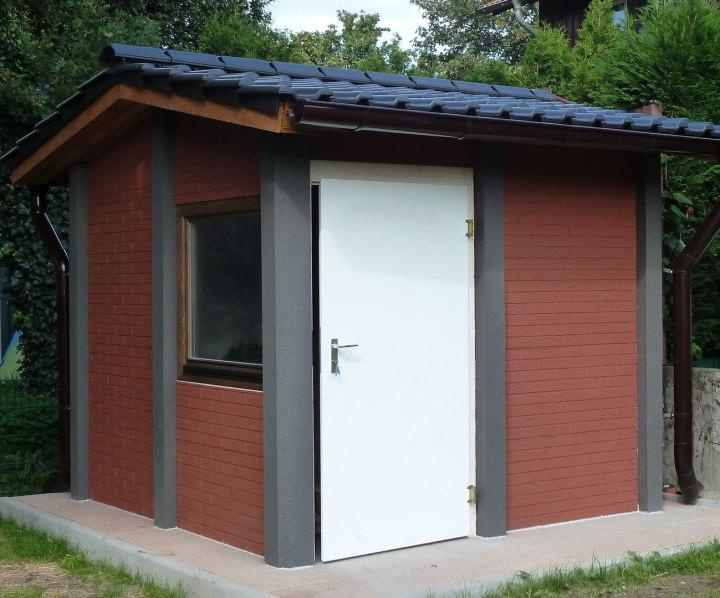 Gartenhaus Typ Harz mit  Ziegeleindeckung anthrazit
