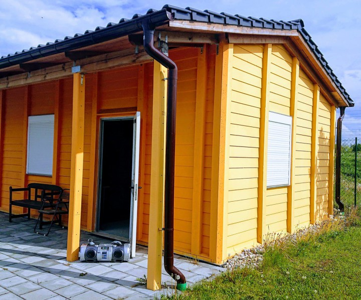 Vereinshaus Typ Bergland A1 mit Ziegeleindeckung